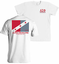 Alpha Sigma Phi Fraternity Flag American Apparel T Shirt NEW MADE IN THE USA