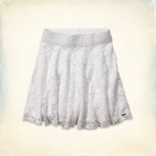 NWT Hollister by Abercrombie Women's White Lace Skater Skirt sizes M and L