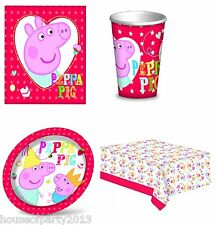 Peppa Pig Table ware party items children's party birthday decorations
