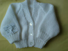 Hand Knitted Baby Cardigan Boy / Girl New Born 14 inch  0+ Months many colours