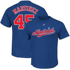 Pedro Martinez Montreal Expos Cooperstown Player Jersey (Blue) T Shirt Men's