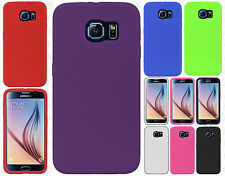 Samsung Galaxy S6 Rubber SILICONE Soft Gel Skin Case Phone Cover +Screen Guard