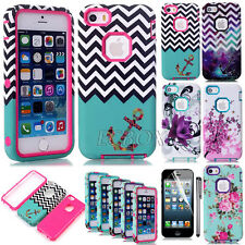 Rugged Hybrid Dual Layer Shockproof TPU Matte Hard Case Skin For iPhone 5S SE 5C