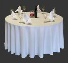 20 pack of 108 Inch polyester White Round Tablecloth Wedding Banquet Table Cloth