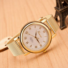 Fashion Classic Geneva Alloy Gold Quartz Girl Women Ladies Wrist Watch