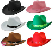 STUDDED COWBOY HAT WILD WEST TRAMPAS WESTERN COWGIRL FANCY DRESS ADULT STETSON
