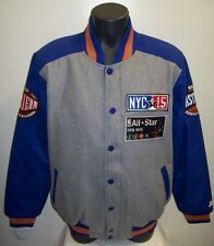 2015 NBA ALL STAR Wool Blend Jacket: by STARTER BLUE / GRAY Men's LARGE,