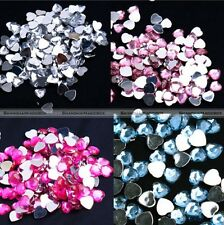 2000pcs 8mm Diamond Heart Confetti Table Scatters Wedding Party Decoration