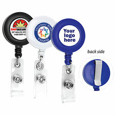 10 PCS CUSTOMIZE RETRACTABLE ID BADGE REEL WITH YOUR LOGO FULL COLOR ID BADGES