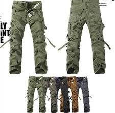 New Casual Men's Pants Military Army Cargo Camo Combat Work Trousers