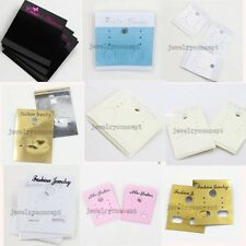 100/500pcs Jewelry Studs Earring Plastic Display Cards Package Decor 11 Color LG