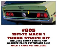805 1971-72 FORD MUSTANG - MACH 1 TRUNK LID STRIPE KIT - THREE PIECES