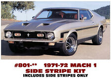 801 1971-73 FORD MUSTANG - MACH 1 or BOSS - HOCKEY SIDE STRIPE KIT - 3 COLORS