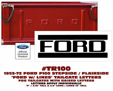 TR100 1953-72 FORD STEPSIDE/FLAIRSIDE TRUCK - TAILGATE LETTERS - F100 SERIES