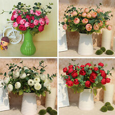 10 Heads Bouquet Artificial Fake Peony Flower Spring Rose Decor Party