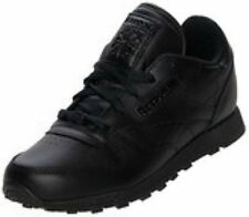 Reebok Preschool/Little Kid Classic Leather Shoe in Black in Sizes 10 to 3