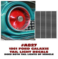 A827 1961 FORD GALAXIE - TAIL LIGHT DECAL STICKER KIT