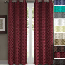 Set of Two Willow Jacquard Blackout Curtains,Thermal Insulated 2PC Window Panels