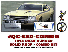 QG-589+ 1974 PLYMOUTH ROAD RUNNER - SIDE & ROOF SOLID STRIPE - COMBO