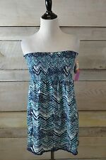 New! Style & Co Blue Chevron Spaghetti Strap Strapless Tank Top (S-XL)