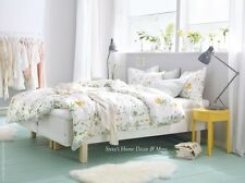 Ikea Strandkrypa Duvet Comforter Cover Set White Floral Twin Queen King NEW FS