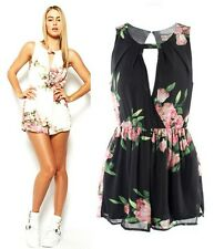 Women Floral Party Evening Jumpsuit Shorts Playsuit
