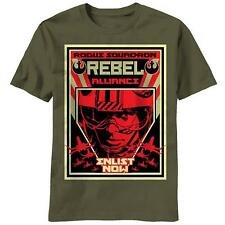 Star Wars T-Shirt Rogue Squadron Rebel Alliance Enlist Now Poster New All Sizes