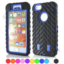 High Impact Tire Stripe Combo Silicone PC Hybrid Cases Cover for iPhone Series