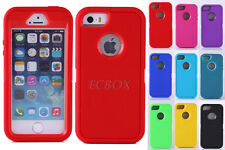 Dual Layer 3-Piece Heavy Duty Rugged Soft Hard Combo Case Cover for iPhone 5S SE