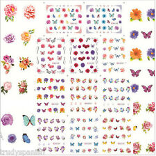 Nail Art Stickers Nail Water Decals Nail Transfers Lace Flowers Floral Bows