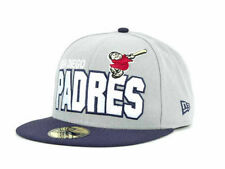 San Diego Padres MLB Big Bold New Era 59Fifty Fitted Flat Bill Hat Cap Monk SD