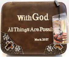 Montana West Scripture Mark 10:27 With God All Things Are Possible Bible Cover