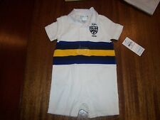 NEW Polo Ralph Lauren Baby Boy Romper Jumpsuit Shortall big pony one piece