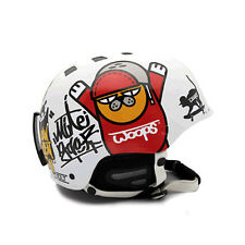 Motorcycle Helmet Decal Sticker Snowboarding Biker Hard Hat Sticker - WOOPS 01