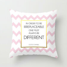 In Order To Be Irreplaceable One Must Always Be Different Coco Quote Pillow