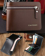 Mens Leather Bifold Wallet Credit/ID Card Holder Slim Coin Purse Money Clip New