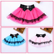 Baby Girls Princess Party Dress Mini Skirt Kid Petticoat Tutu Lace Skirt 1-5Y