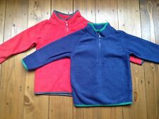 Ex Marks and Spencer Blue and Red Boys Fleece Top Jumper age 2-3, 3-4, 5-6, 6-7