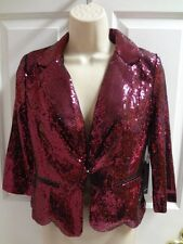 HAVE Dance Jacket Black Womens Size S M L Poly Blend NWT  Copper Or Pink Sequins