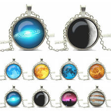 Galaxy Universe Photo Glass Dome Pendant Necklace Gift Silver or Bronze Chain