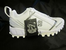 MEN'S SOFTBALL TURF CLEATS NEW IN BOX SIZE 9 WHITE/ROYAL FAMOUS SPORTS BRAND