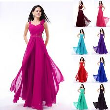 Elegant Long Women's Dresses Bridesmaid Evening Party Formal Prom Dress Gowns