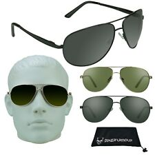 Motorcycle Aviator Big & Tall Sunglasses Extra Large Fit Wide Metal Frame XL Men