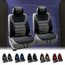 FH Group Premium Fabric Pair Front Car Seat Cushion Pads Airbag Compatible