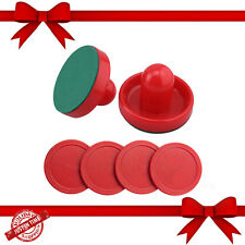 Sturdy Air Hockey 2 Pusher Handles 4 Red Pucks Goalies Paddles Slider Replacemet