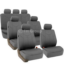 Rome PU Leather 3 Row Seat Covers For VAN Air Bag Safe & Split Bench Ready