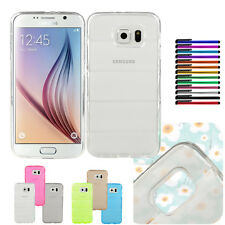 Bullet-proof Vest Design TPU Rubber Back Cover Shell Case F Samsung Galaxy S6 C1
