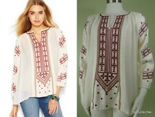 NWT LUCKY BRAND Size S/L Embroidered Peasant tunic top