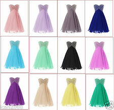New Short Chiffon Bridesmaid Formal Gown Ball Party Cocktail Evening Prom Dress