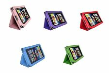 Genuine Leather Stand Cover Case for Barnes & Noble Nook Tablet / Nook Color